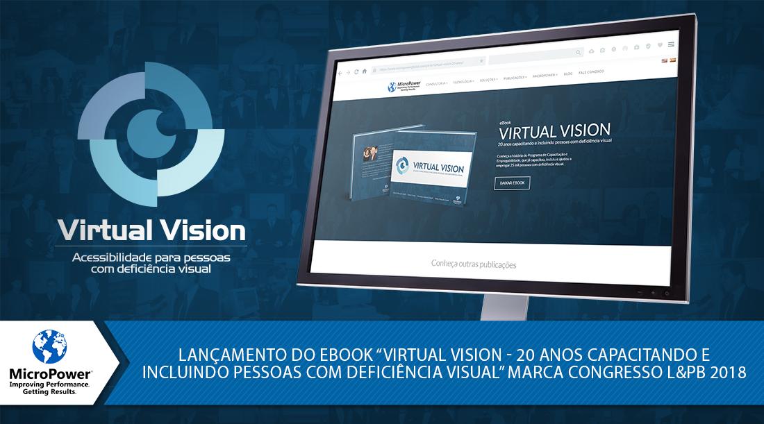 capa do livro em comemoração aos 20 anos do Virtual vision