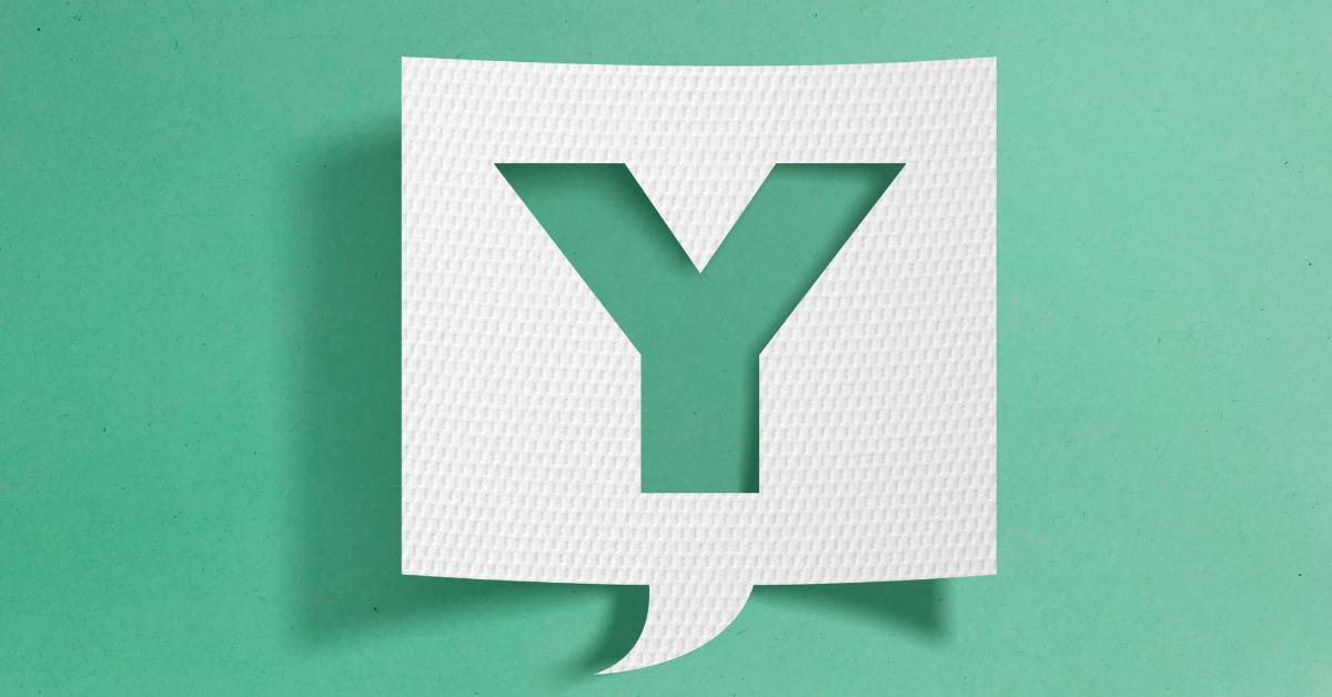 a letra Y em um fundo verde