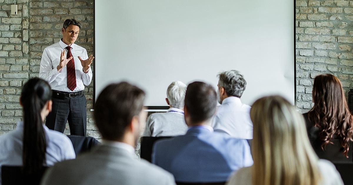 Pessoas durante uma reunião